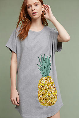 Slide View: 1: Pineapple T-Shirt Dress