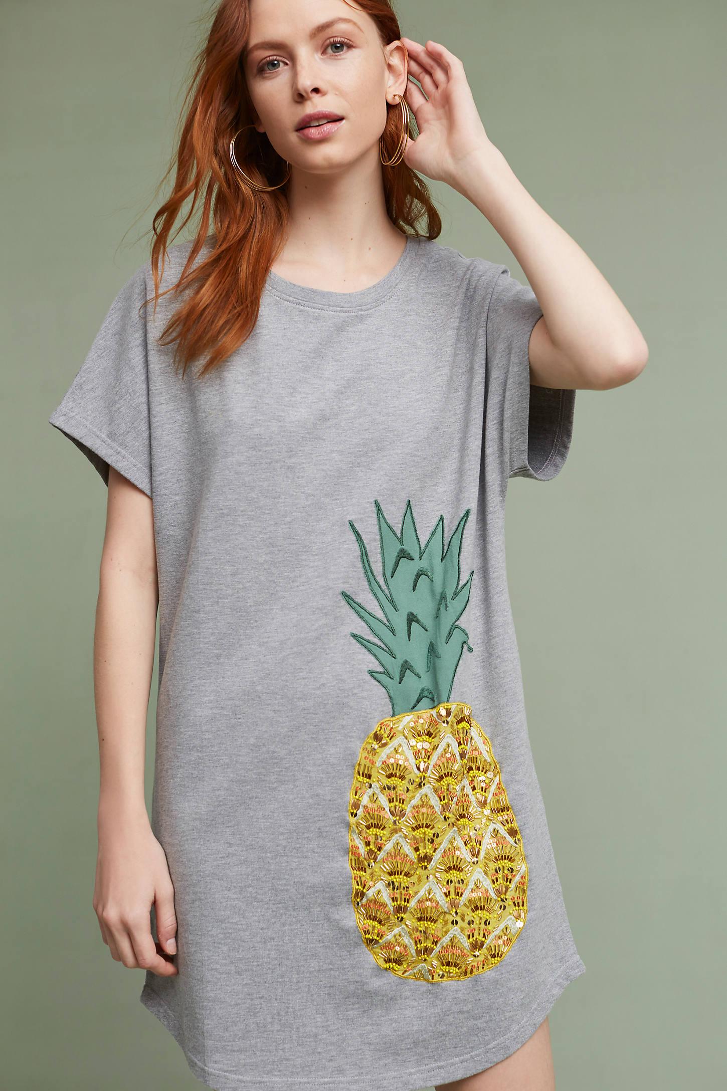 Pineapple T-Shirt Dress