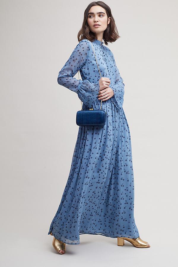 Jeanette Floral-Print Maxi Dress - Blue, Size Uk 6