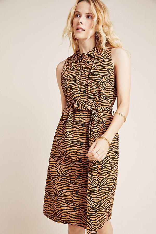Gemini Tiger-Print Shirtdress - Assorted, Size Uk 8