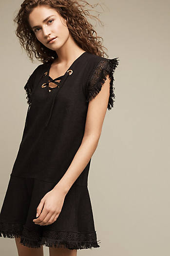 Alexa Lace-Up Linen Dress