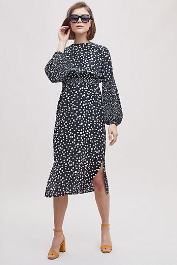 a3a7c961f5b Rixo London Anna Polka-Dot Silk Maxi Dress