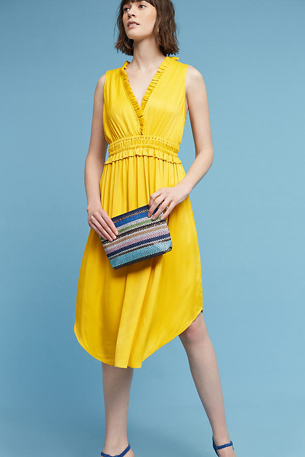 La Habana Dress, Yellow - Mango, Size Xl