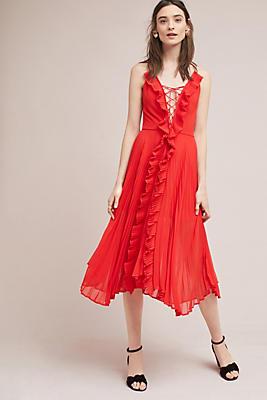 Slide View: 1: Carmine Pleated Dress