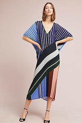 Slide View: 1: Mara Pleated Tunic Dress