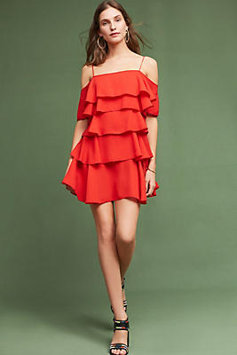 Slide View: 1: Amore Ruffled Dress