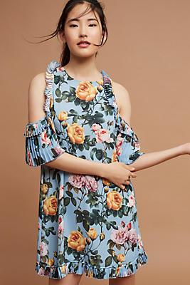 Slide View: 1: Anita Open-Shoulder Floral Dress
