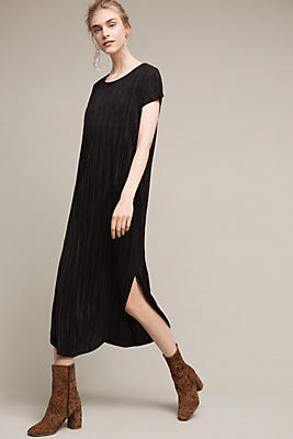 Slide View: 1: Textured Renaissance Midi Dress