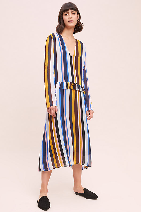 Romain Striped Dress - Assorted, Size Uk 6