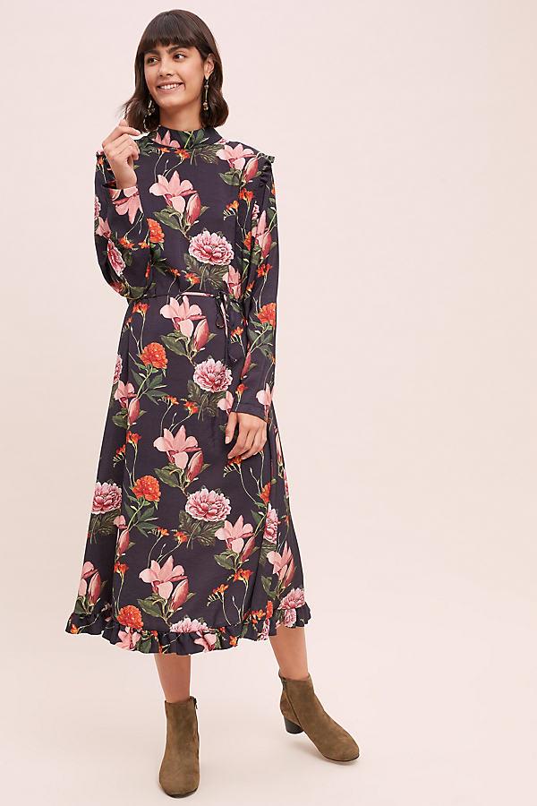 Margot Floral-Print Midi Dress - Assorted, Size Xl
