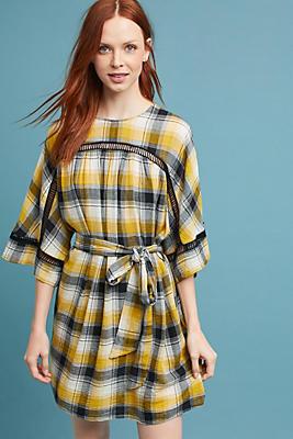 Slide View: 1: Tie-Waist Kimono Tunic Dress