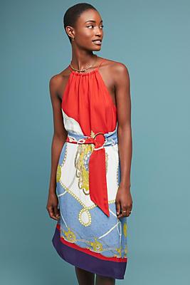 Slide View: 1: Onsen Scarf-Printed Dress