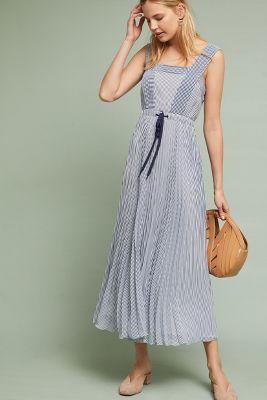 Maeve   Darcy Striped Dress  -    BLUE MOTIF