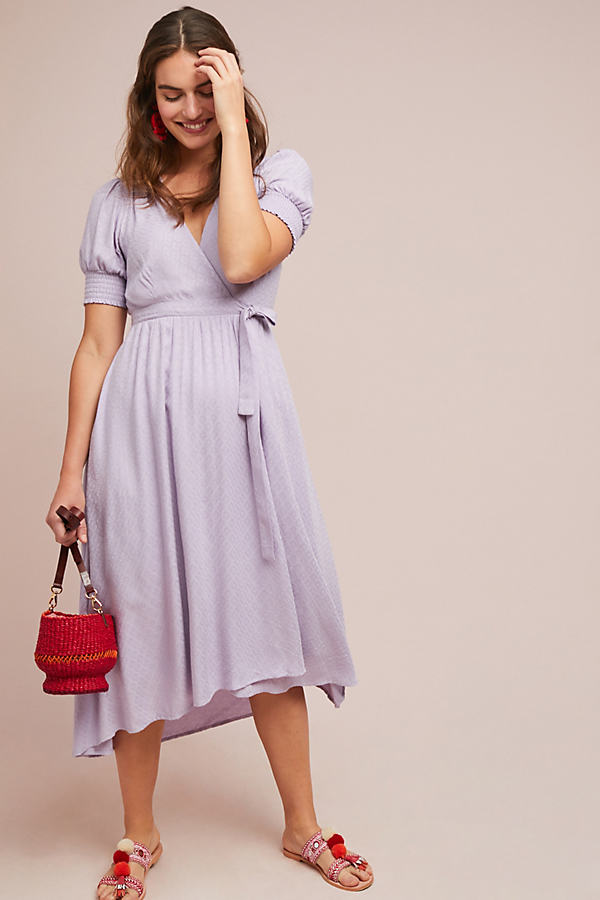 Breanna Wrap Dress - Purple, Size Uk 8