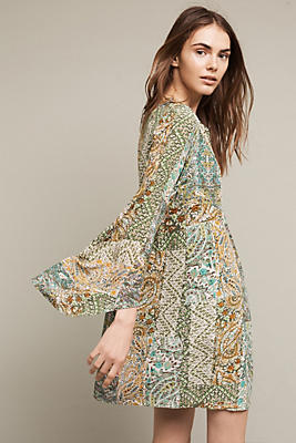 Slide View: 4: Amelie Silk Kimono Dress