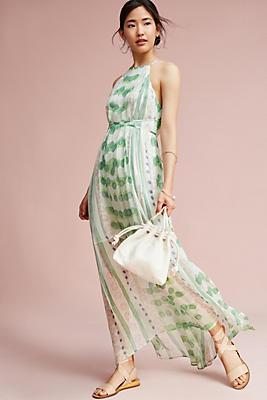 Slide View: 1: Vera Silk Maxi Dress