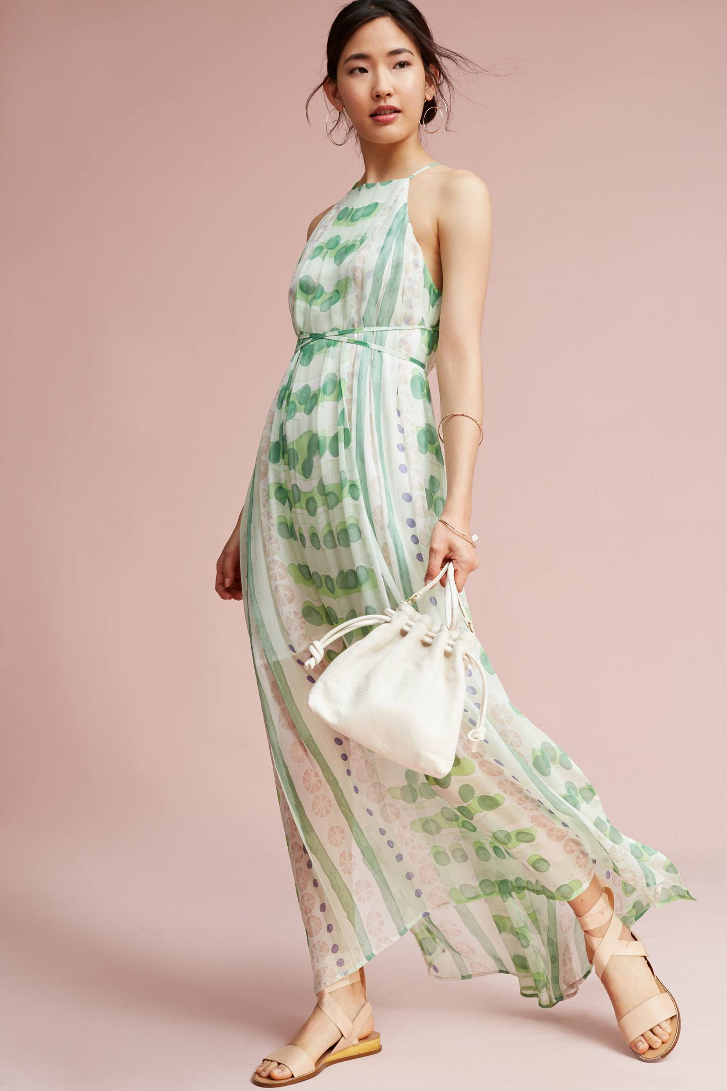 Vera Silk Maxi Dress Anthropologie