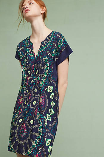 Medallion Silk Dress