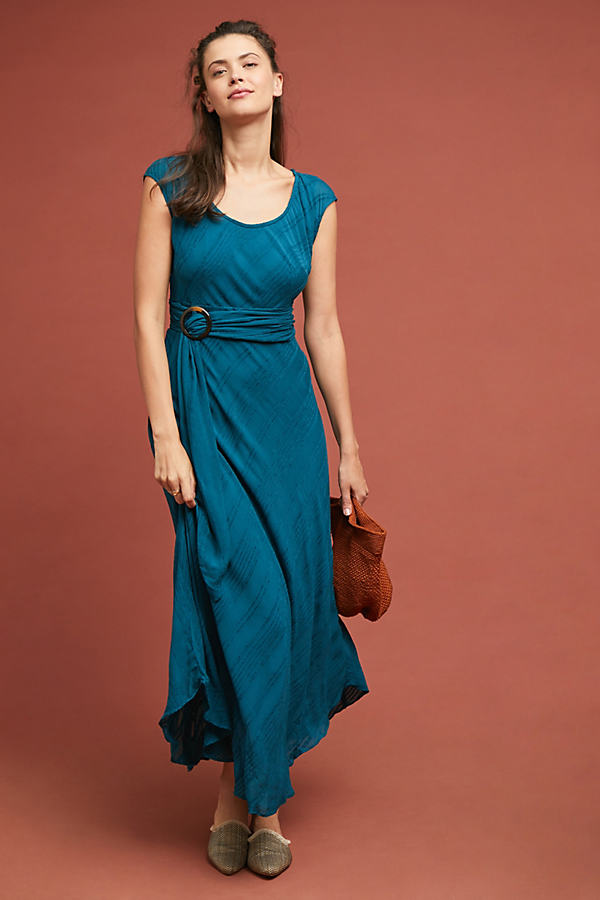 Guinevere Maxi Dress - Blue, Size Uk 16