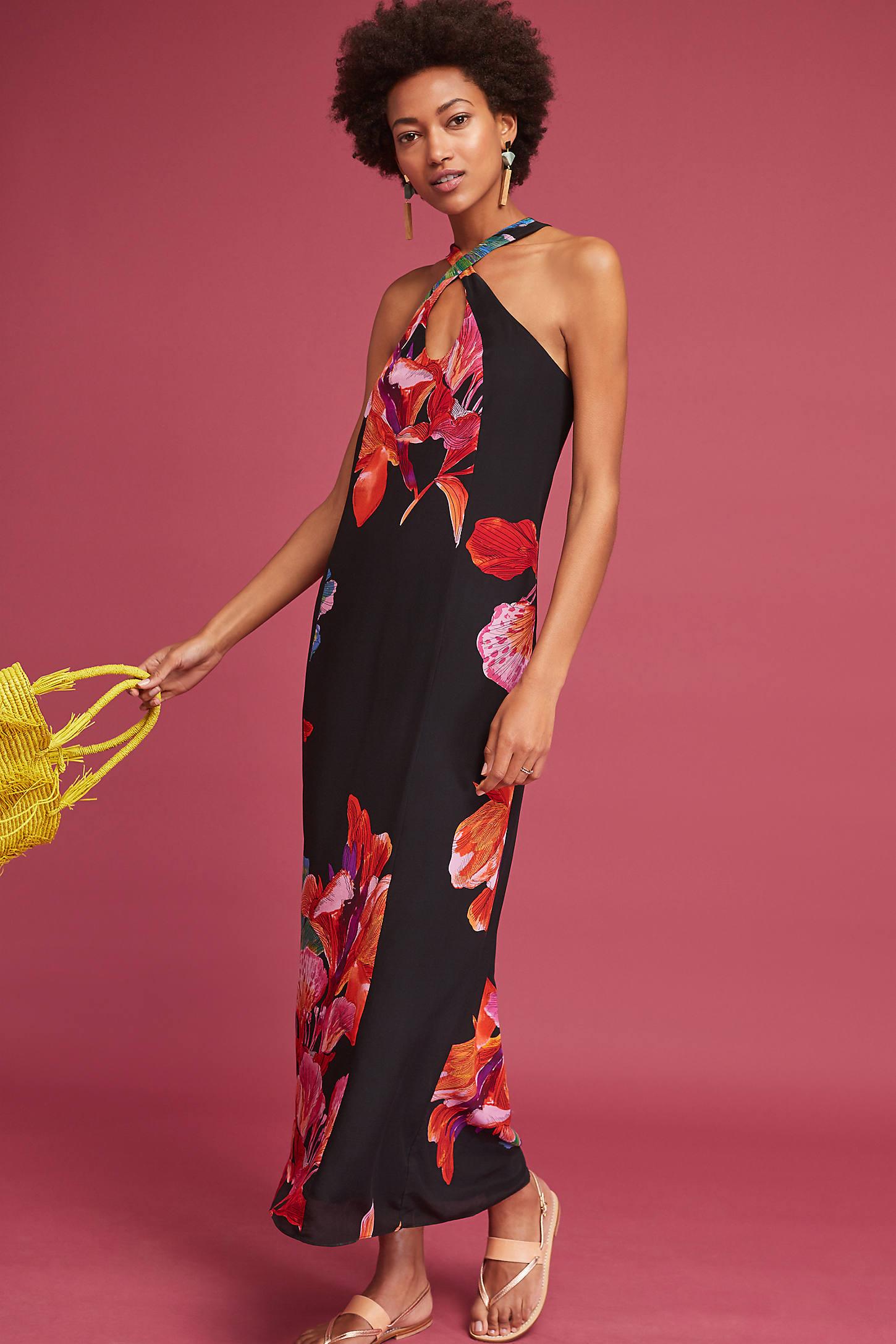 Cayman Silk Maxi Dress