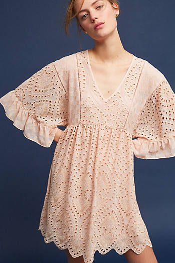 Brooke Eyelet Swing Dress