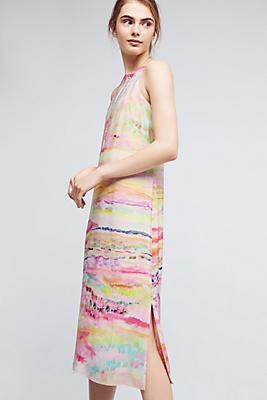 Slide View: 2: Painted Silk Column Dress