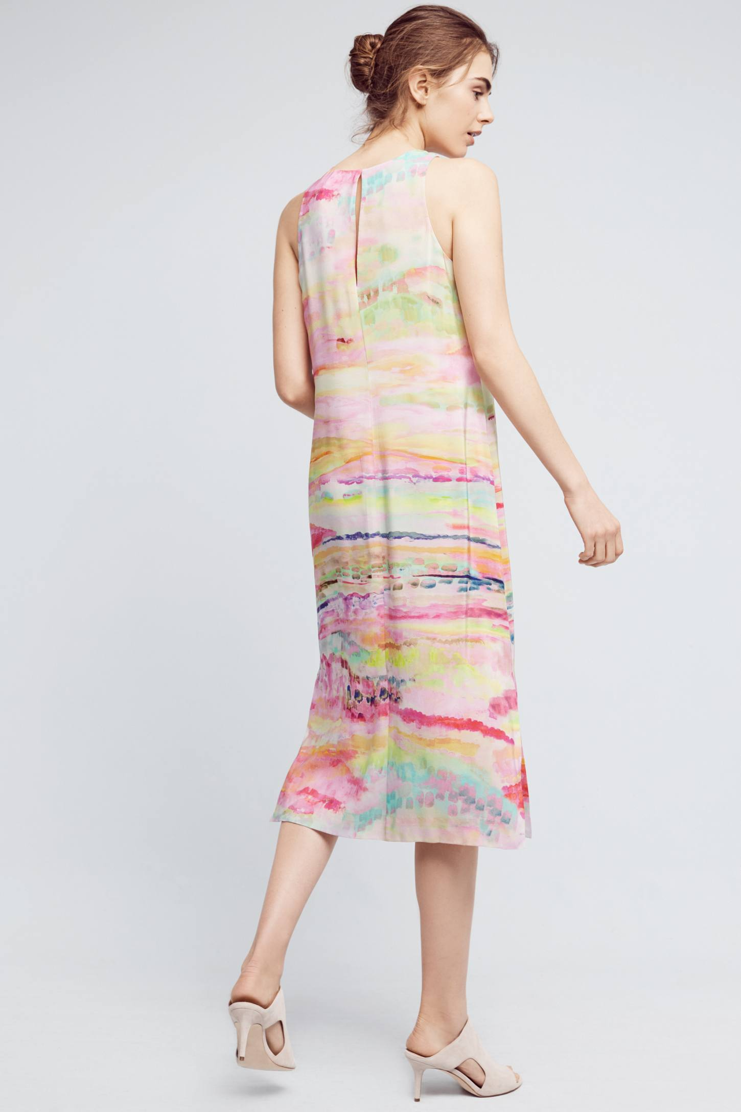 Slide View: 3: Painted Silk Column Dress