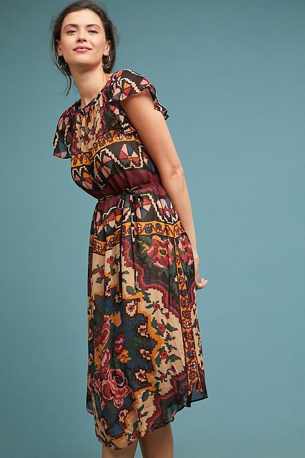 Stefani Printed Midi Dress - Assorted, Size M