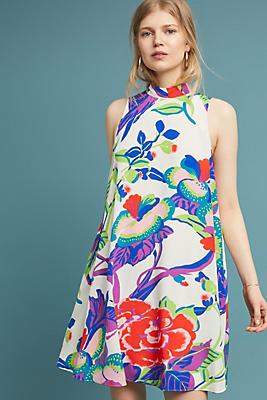 Slide View: 1: Ria Silk Swing Dress