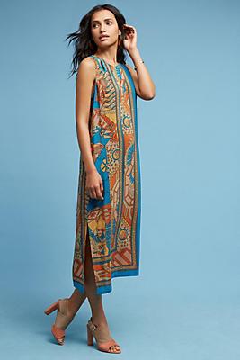 Slide View: 1: Tanvi Silk Column Dress
