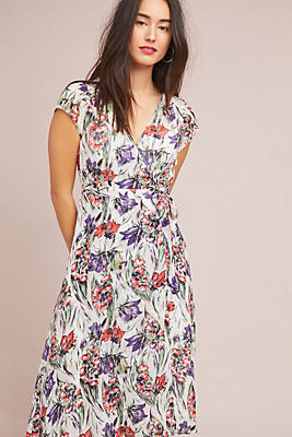 Slide View: 1: Flora Wrap Dress