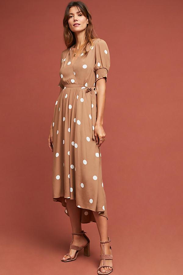 Bernice Polka Dot Wrap Dress - Assorted
