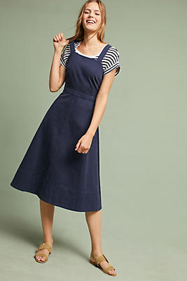 Slide View: 1: Chino Apron Midi Dress