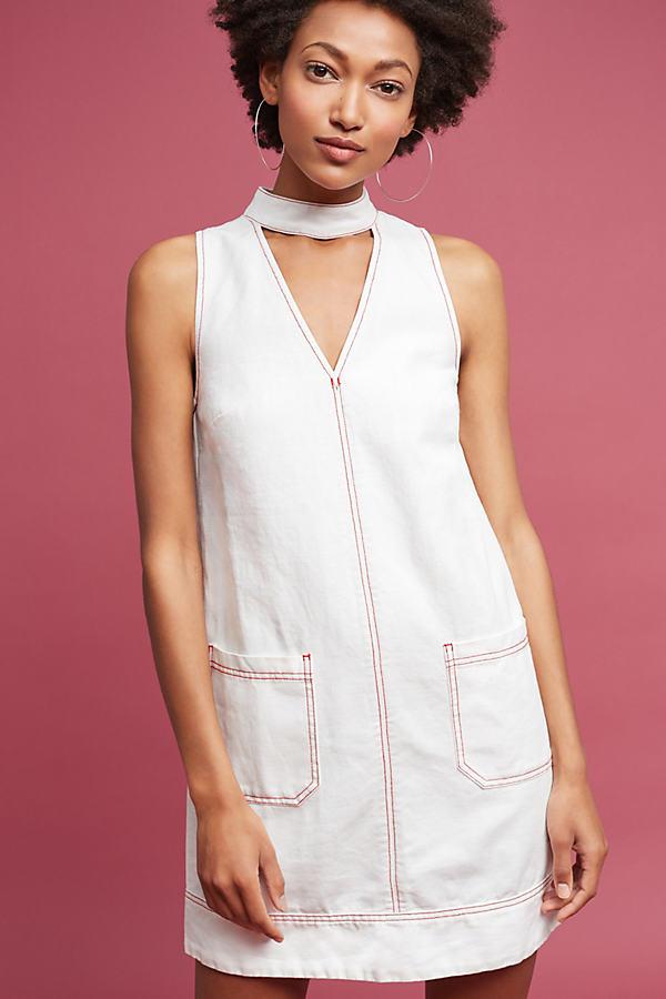 Eunice Cut-Out Dress, White - White, Size L
