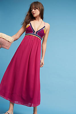 Slide View: 1: Violet Sunset Crocheted Dress