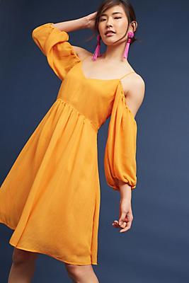 Slide View: 1: Carina Open-Shoulder Dress