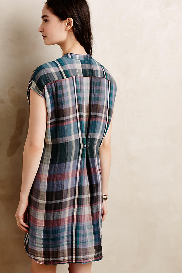 Slide View: 2: Mixed Plaid Tunic
