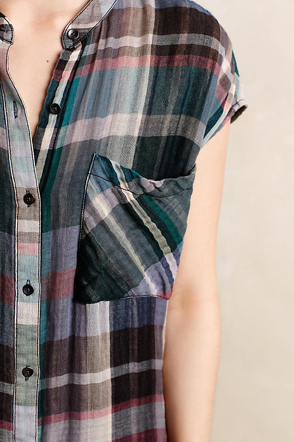 Slide View: 3: Mixed Plaid Tunic