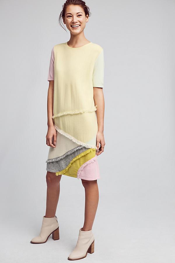Cashmere Fringe Tunic Dress