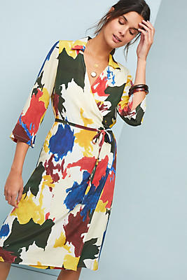 Slide View: 1: Expressionist Wrap Dress