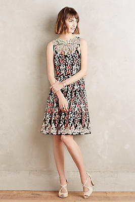 Embroidered Emilia Dress Anthropologie