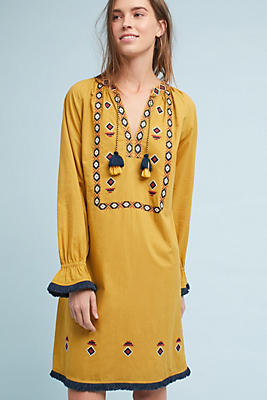 Slide View: 4: Merida Embroidered Tunic Dress