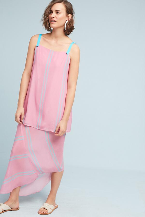 Addison Silk Midi Dress, Pink - Pink, Size S