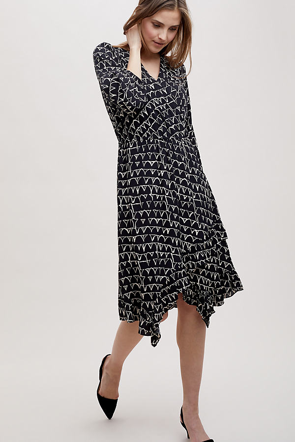 Aleah Dress - Black Motif, Size Xl