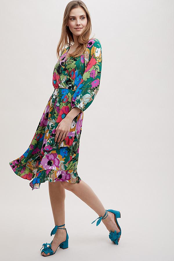 Aleah Dress - Green Motif, Size S
