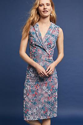 Slide View: 1: Sleeveless Jacquard Dress