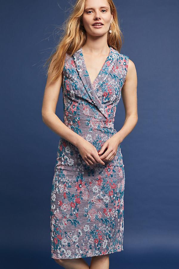 Verity Jacquard Dress, Lilac - Lilac, Size L