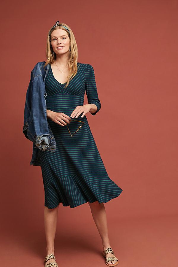 Meg Striped Dress - Blue, Size Xl