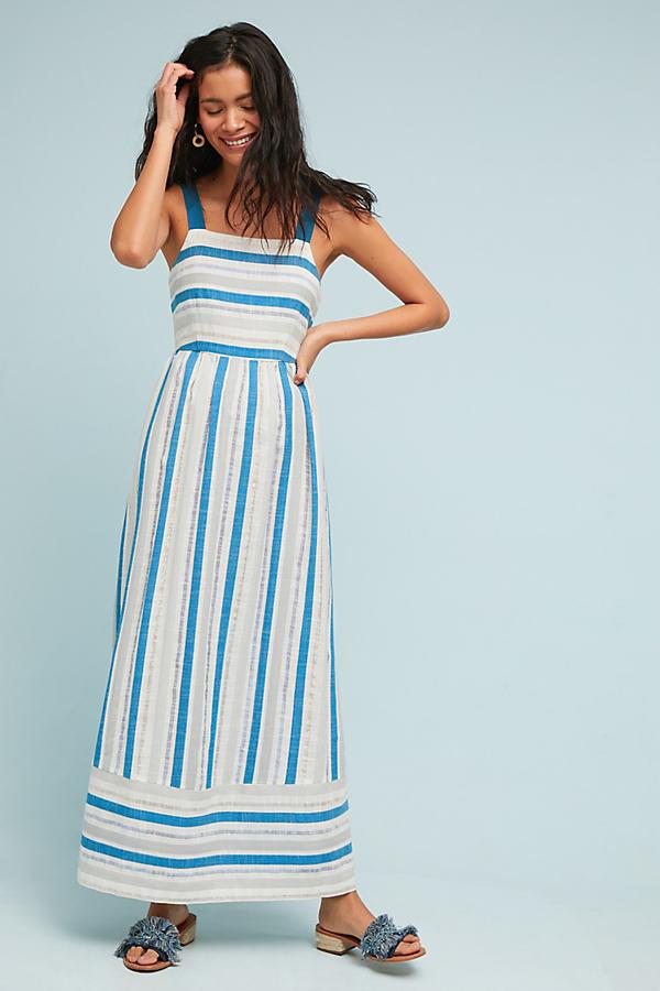 Artesia Textured Maxi Dress - White, Size Uk 10