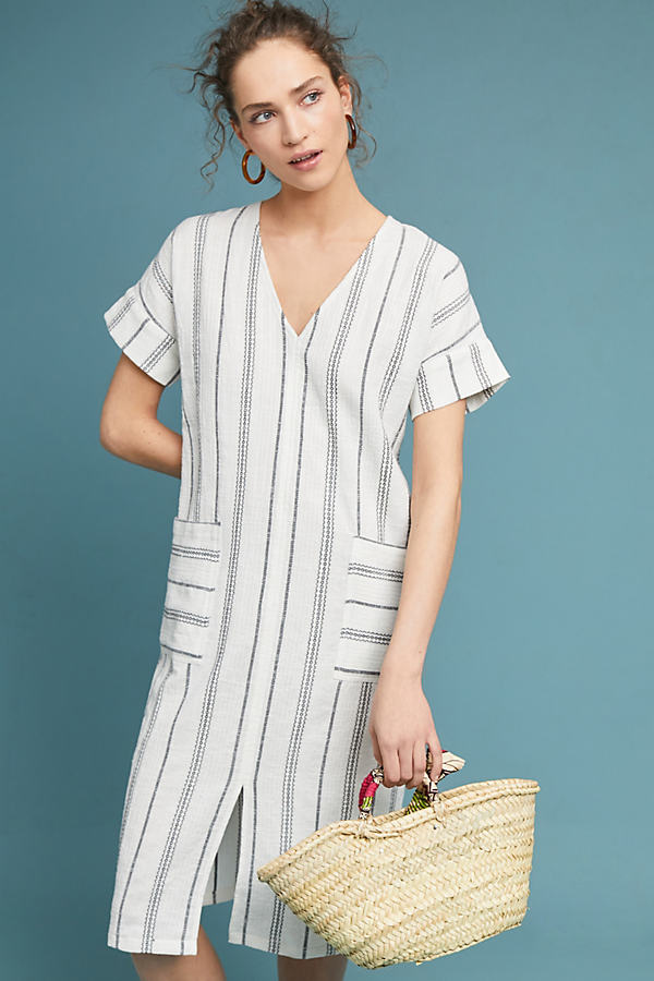 Warminster Gestreiftes Kleid - Light Grey
